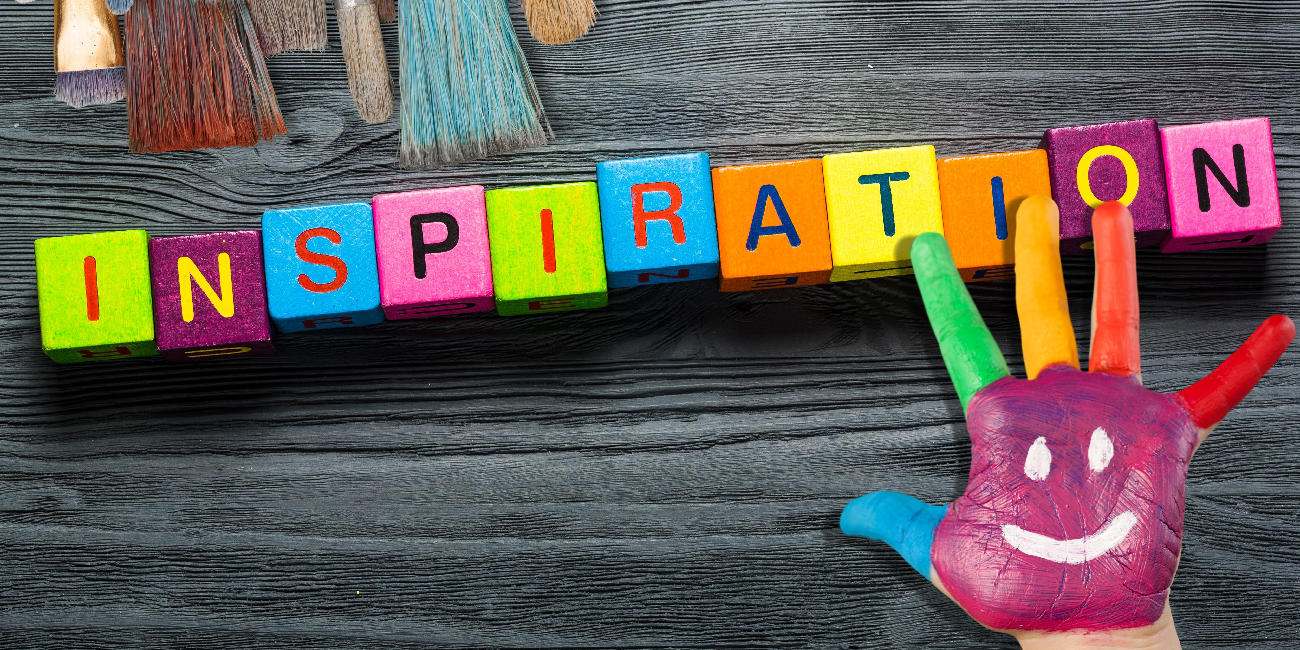 wooden blocks spelling the word 'inspiration'